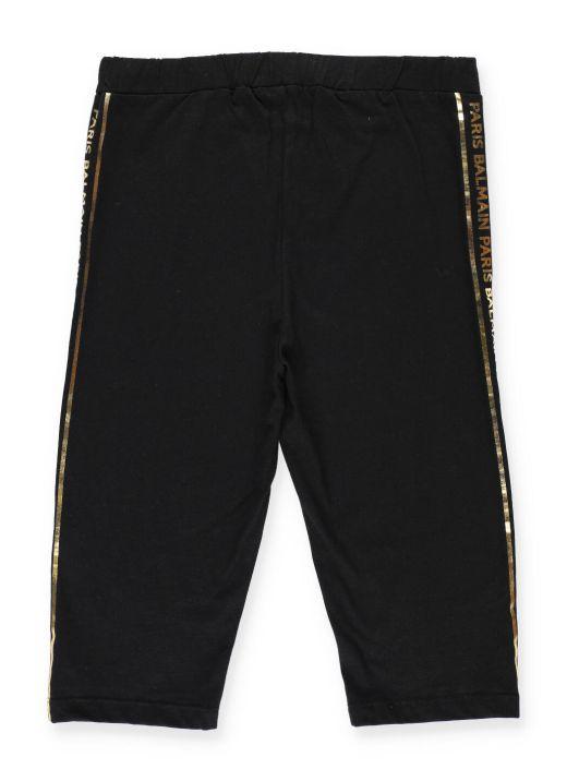 Stretch cotton cropped leggins