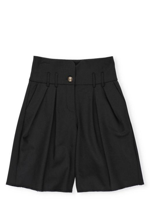 Virgin wool tailored short