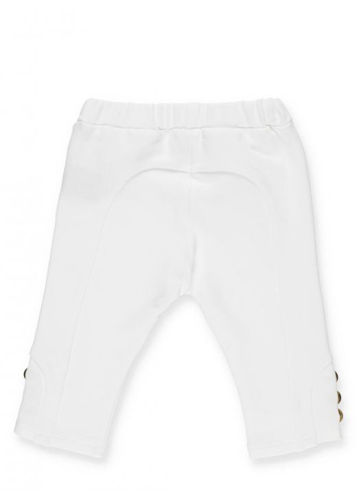 Cotton pants with buttons