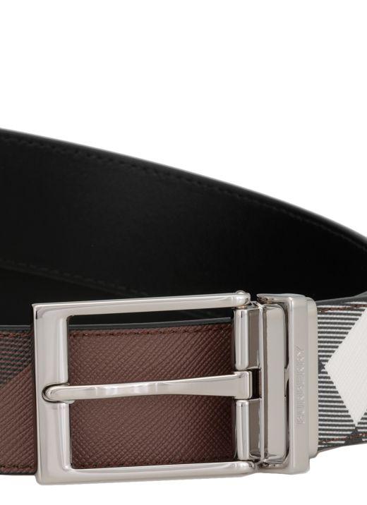 Cintura in e-canvas e pelle