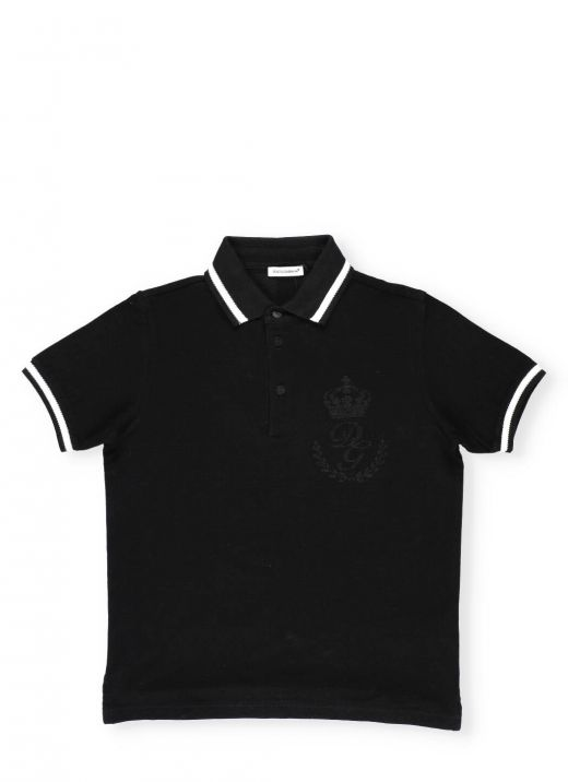 Cotton Polo with embroideries