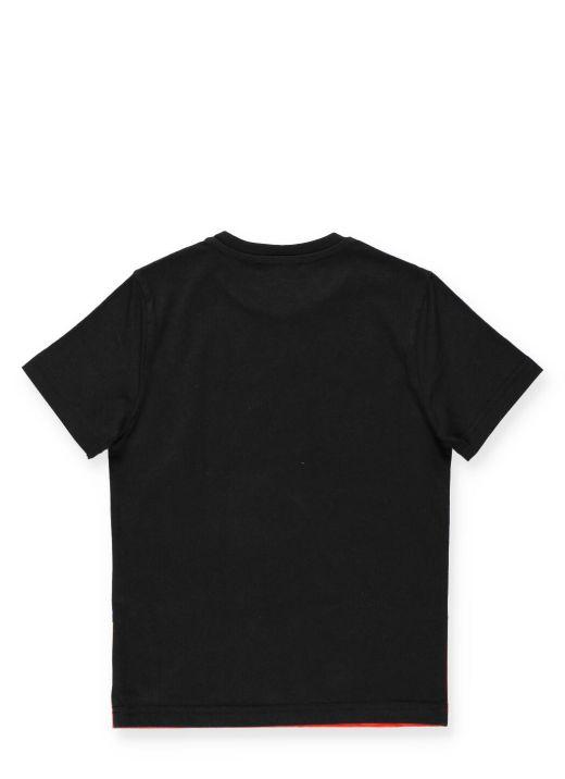 T-shirt con Fiamme