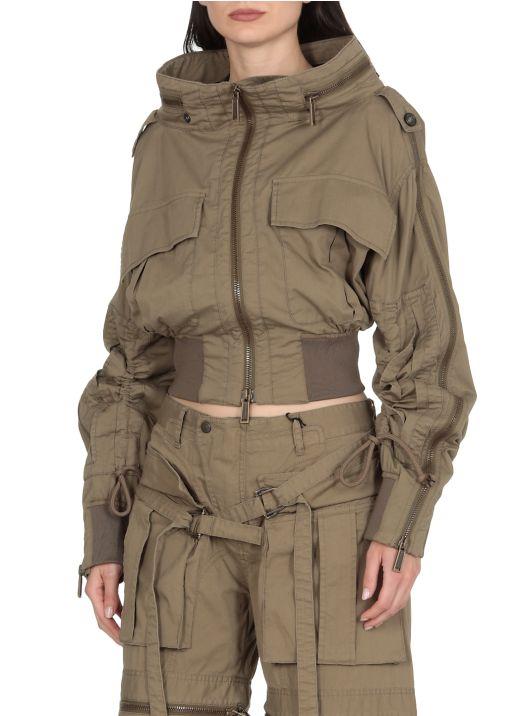 Asymmetric cotton jacket