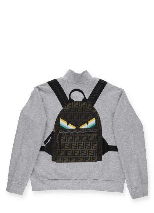 Sweatshirt with Backpack print