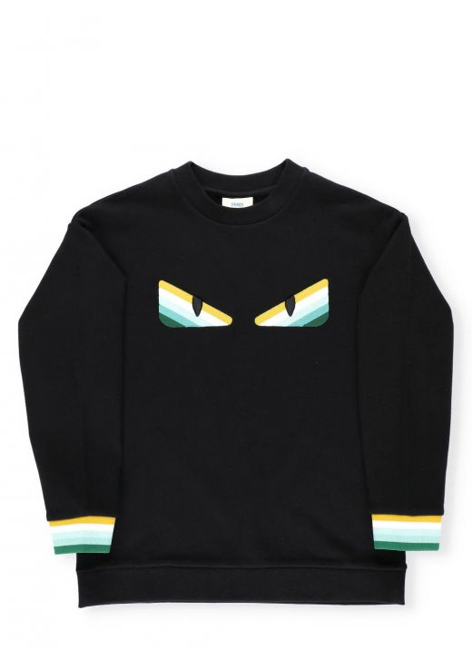 Cotton sweatshirt with embroidery