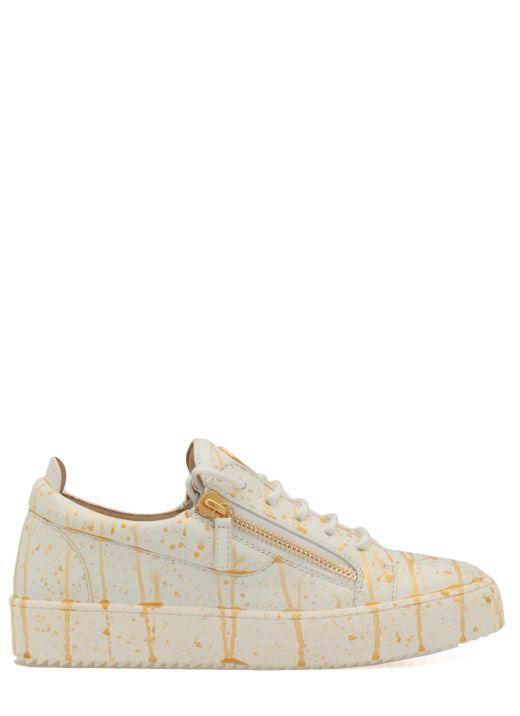 Sneaker in pelle liscia