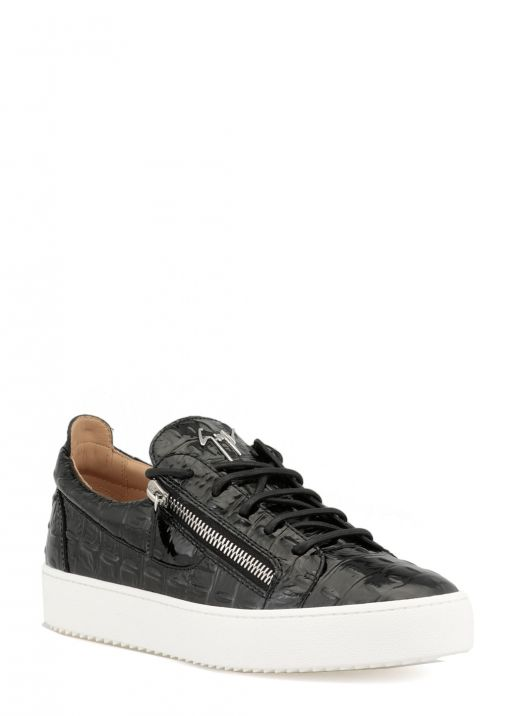 Sneaker in pelle verniciata