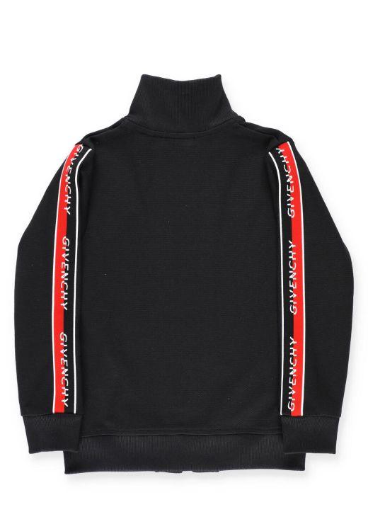 Sweatshirt with loged band