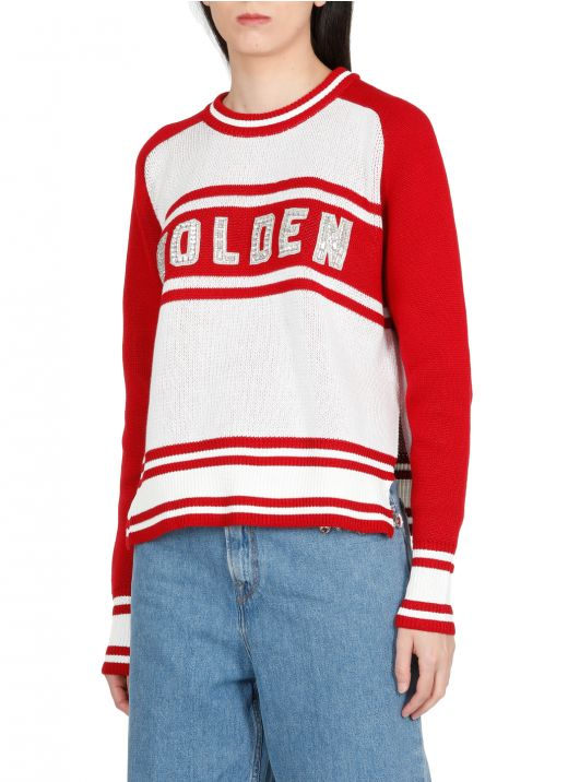 Oversize sweater with logo