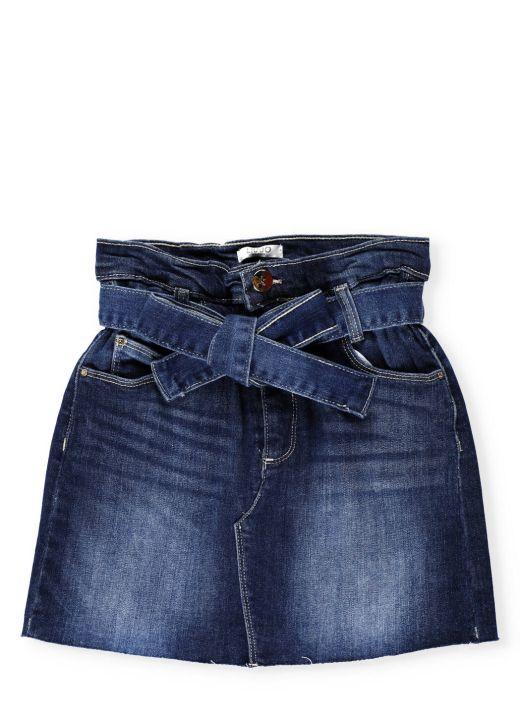 Cotton jeans short