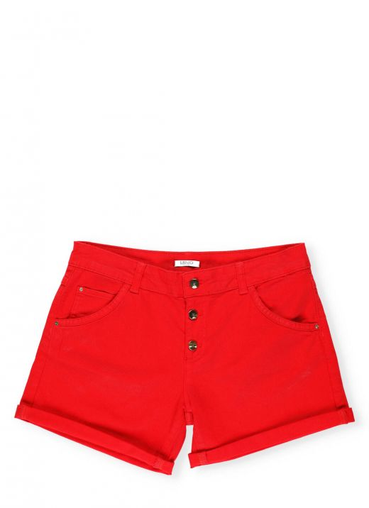 Stretch cotton shorts