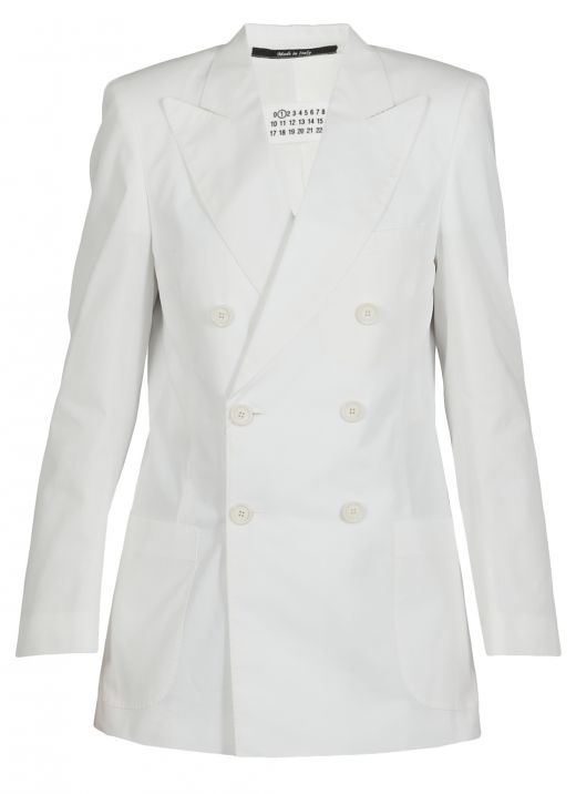 Cotton double breasted jacket