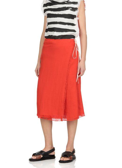 Fabric wrap skirt