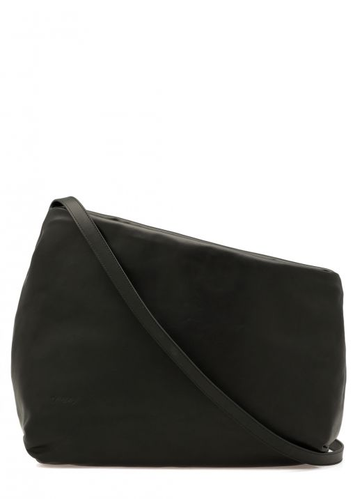 Asymmetric leather bag