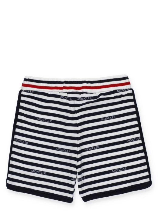 Cotton striped short