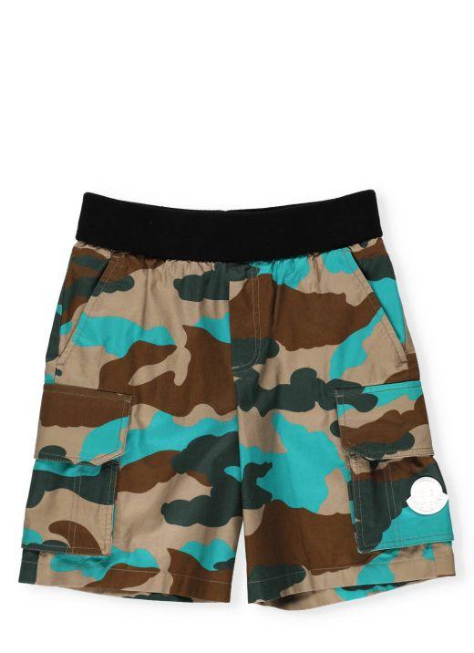 Camouflage bermuda short