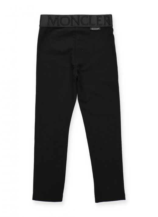 Cotton pants with loged band