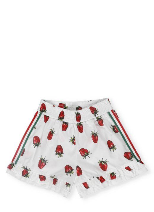 Popeline cotton shorts