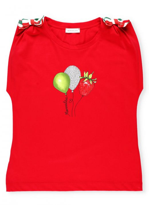 T-shirt with tricolor bows