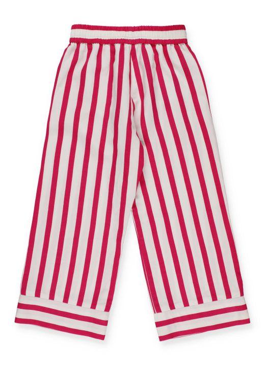 Striped palazzo trouser