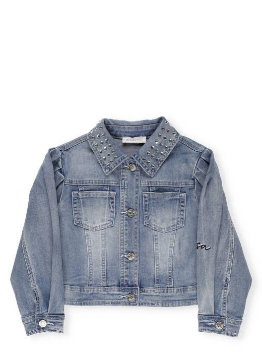 Cotton blend jeans jacket