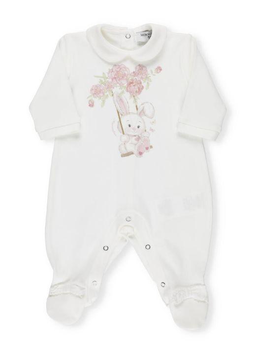 Rabbit printed baby romper