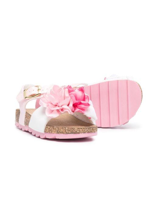 Sandalo aperto in tessuto