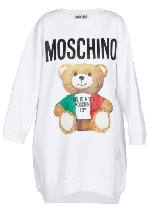 Teddy Bear sweatshirt dress