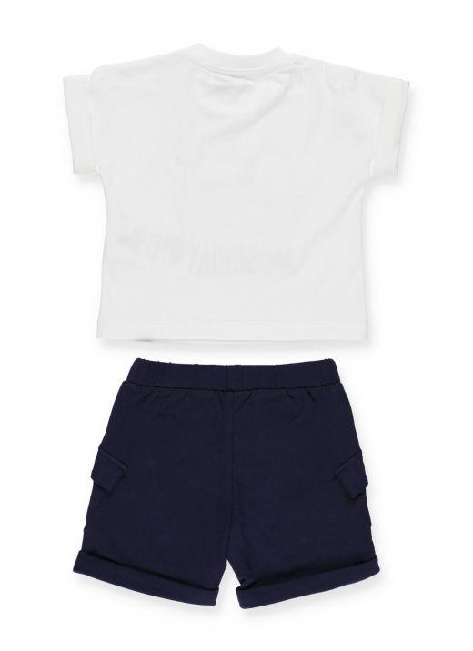 Cotton t-shirt and short set
