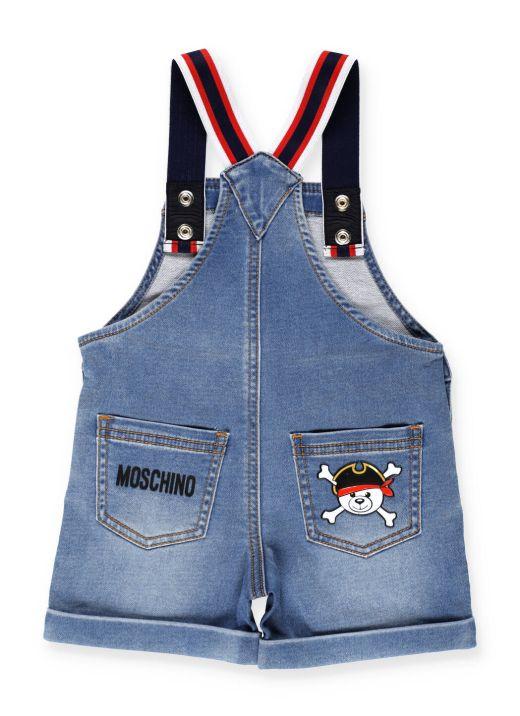 Salopette jeans in cotone
