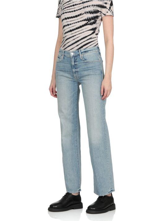 Cotton blend jeans