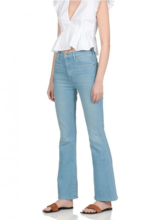 Cotton flared jeans