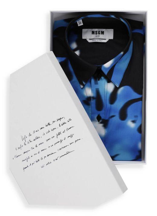 Camicia con stampa bicolore
