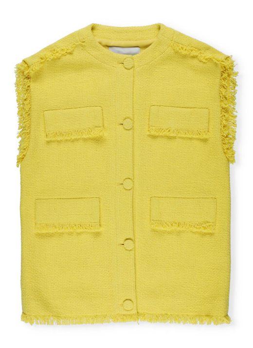 Giacca a maglia in misto cotone