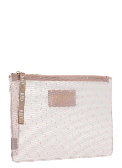 Fabric Point d'Esprit clutch