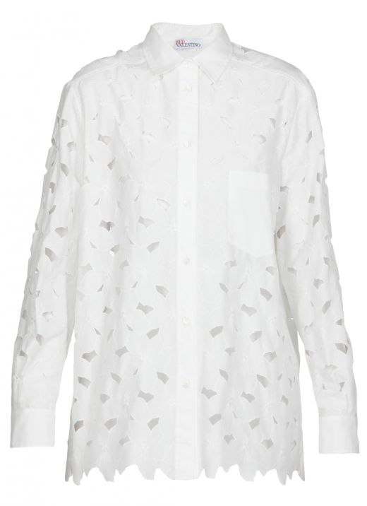 Cotton blend carved shirt