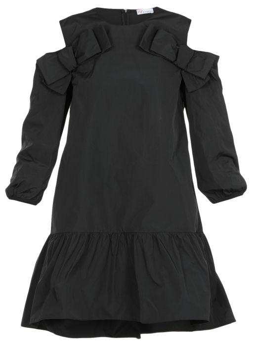 Midi dress with bows