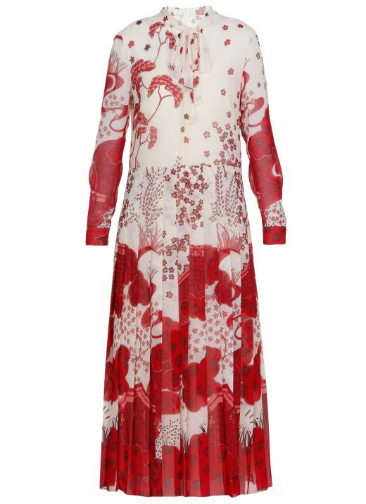 Pleated long dress