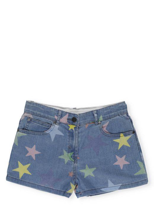 Denim short with multicolor Stars