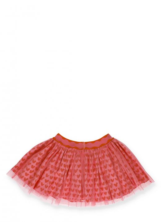 Hearts tulle skirt