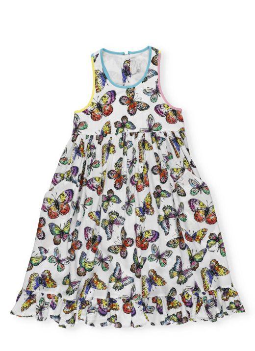 Abito con farfalle
