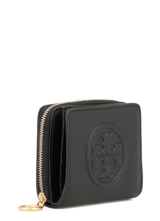 Plebbed leather wallet
