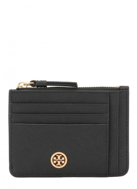 Leather card holder with logo