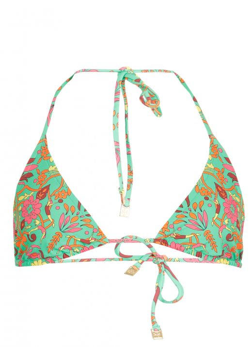 Floral printed triangle top