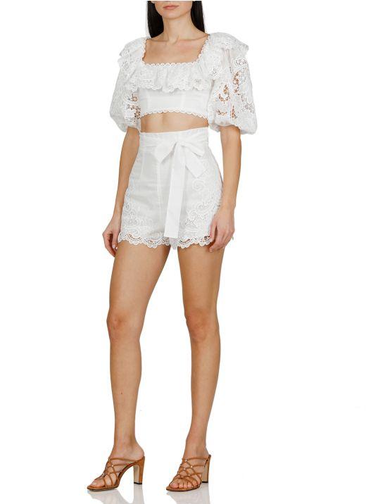 Lulu scallop shorts